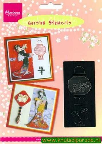 Marianne Design borduurmal geisha MG0842 (Locatie: S048 )