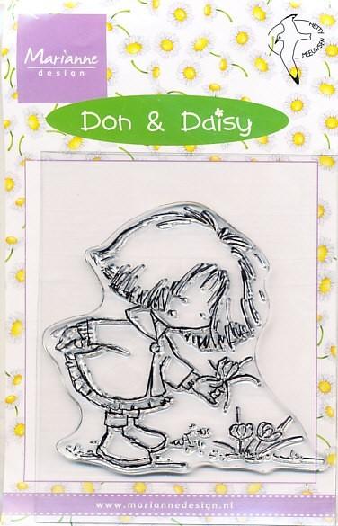 Marianne Design Clear stamp Daisy finding a crocus DDS3317 (Locatie: U364 )