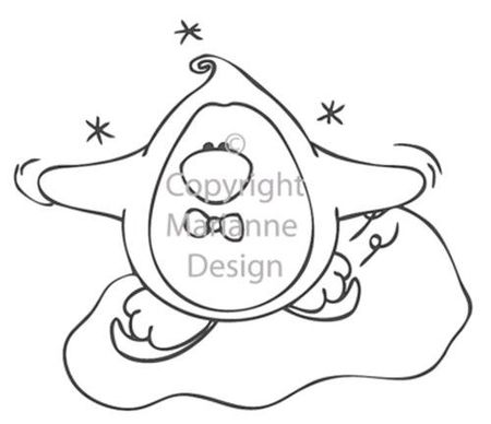 Marianne Design Clear stamp fairy love winter SF1103 (Locatie: H326 )