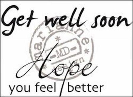 Marianne Design Clear stamp Get well soon CS0895 (Locatie: NN028)