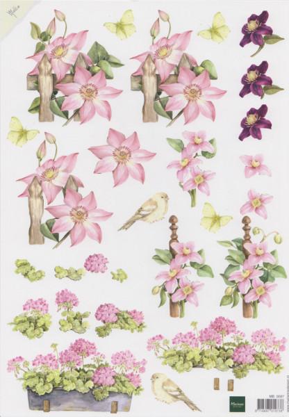 Marianne design knipvel bloemen MB0097 (Locatie: 4729)