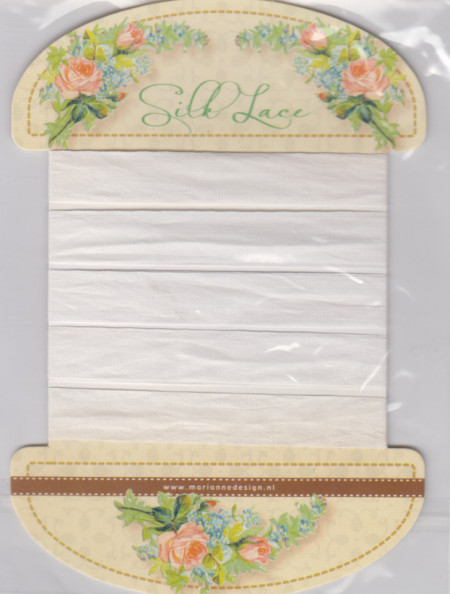 Marianne Design Silk Llace white 150 cm JU0914 (Locatie: k3)