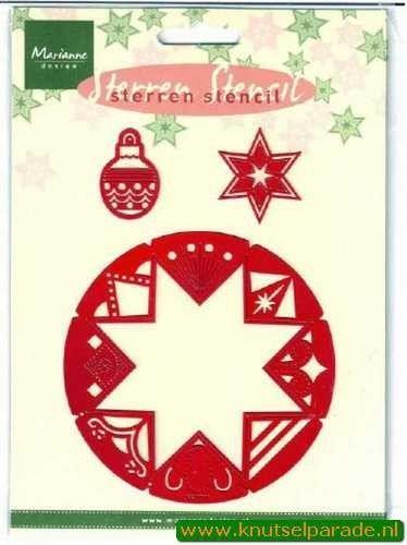 Marianne Design snij- embos- en borduurmal kerststerren SK7701 (Locatie: I044 )