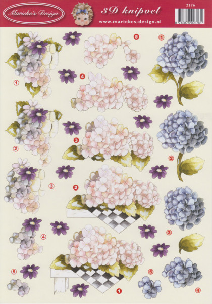 Marieke's Design knipvel bloemen 2376 (Locatie: 1755)