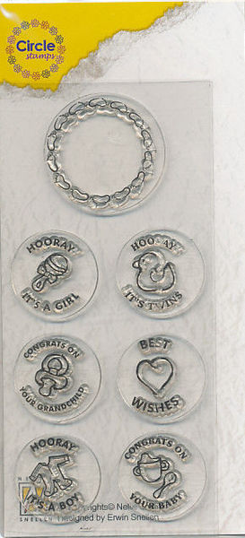 Nellie Circle Clear Stamps English texts - Baby CCSB002 (Locatie: I615)