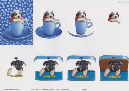 Nielsen Cards knipvel honden KA005 (Locatie: 5836)