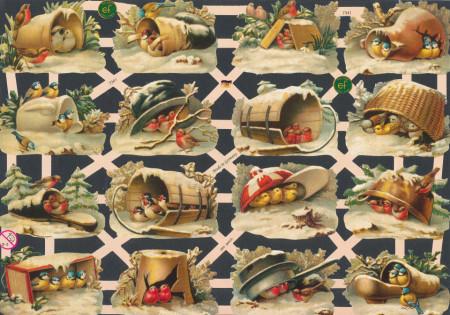 Poezieplaatjes vogels vintage (Locatie: MP097)