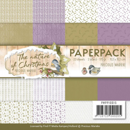 Precious Marieke, Paperpack, 15.2 x 15.2 cm, The Nature Christmas, PMPP10015