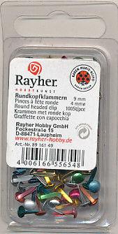 Rayher brads metal kleuren 4 mm 100 stuks 8916149 (Locatie: K2)