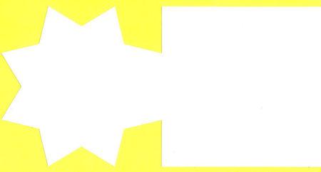 Romak dubbele kaart vierkant ster wit 12,5 cm x 12,5 cm 5 stuks K4 320 21 (Locatie: H388 )