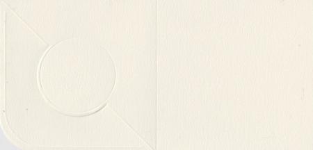 Romak vierkantekaart vouw rond ivoor (Locatie: MM003 )