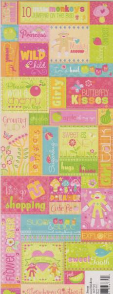 Scrapbook sticker berry sweet 567795 (Locatie: )