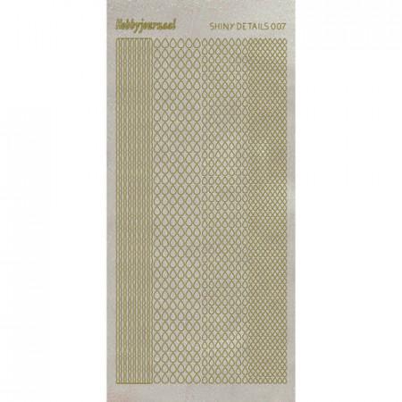 Shiny details stickervel glitter goud SDS007TG (Locatie: D55)