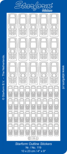 Starform mobiel zilver 119 (Locatie: g094)