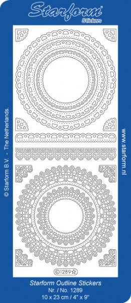 Starform sticker ornamenten goud 1289 (Locatie: i572)