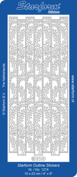 Starform sticker zilver randje 1274 (Locatie: A249)
