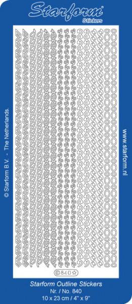Starform sticker zilver randjes 840 (Locatie: N116)