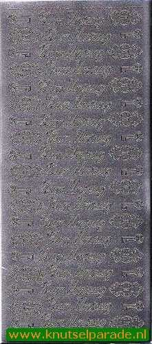 Starform sticker zilver Zum Umzug 437 (Locatie: F173)