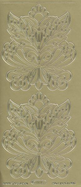 Starform stickervel bloem goud 1116 (Locatie: u084)