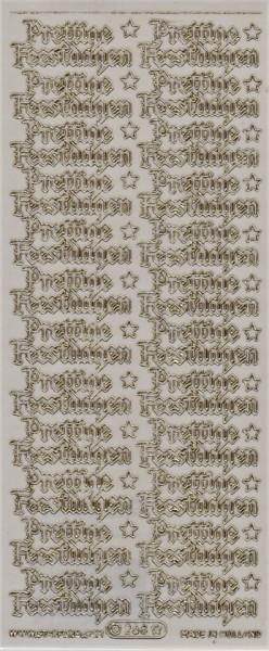 Starform stickervel transparant goud kerst 268 (Locatie: F059 )