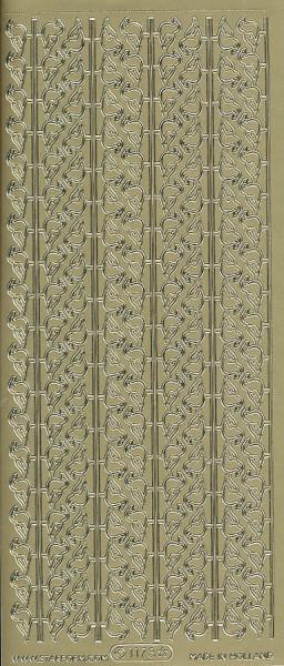 Starform stickervel vogeltjes goud 1173 (Locatie: f025)