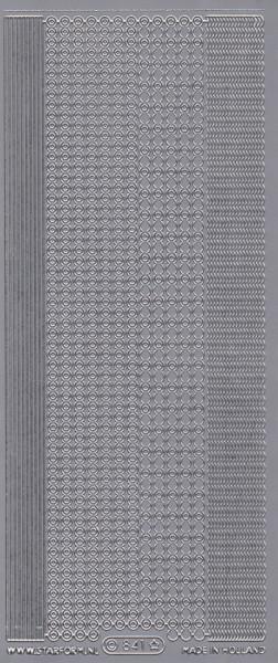 Starform stickervel zilver 841 (Locatie: zz120)