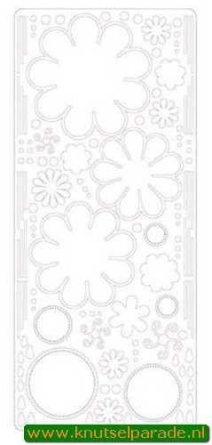 Sticker bloemen wit 121001 0451 (Locatie: B244 )