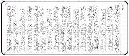 Sticker Huwelijk diverse teksten zilver 20380/1682S (Locatie: H450 )