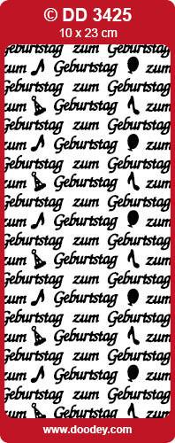 Sticker zilver zum Geburtstag DD3425 (Locatie: NN092)
