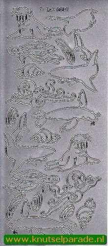 Stickervel dieren zilver DD 6602 (Locatie: F045 )