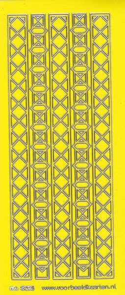 Stickervel lichtgeel/zilver nr. 3021 (Locatie: K163)