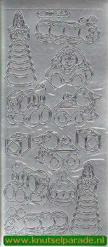 Stickervel speelgoed zilver DD6351 (Locatie: B177)