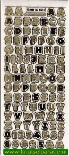 Stickervel transparant goud MD351551 (Locatie: C021 )