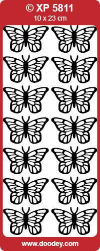 Stickervel vlinders roze holografisch XP5811 (Locatie: g078)
