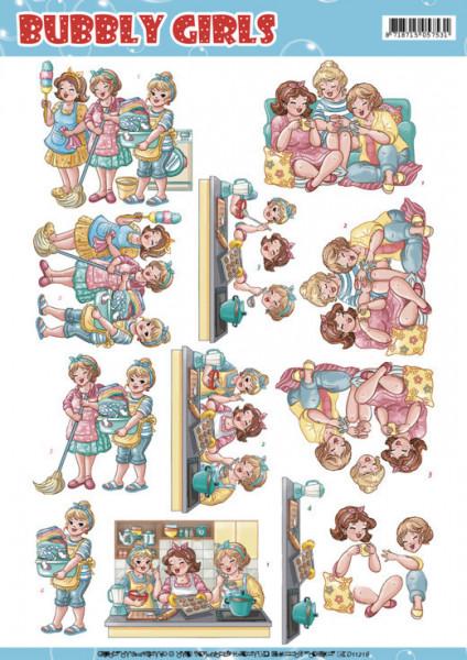 Yvonne Creations Bubbly Girls knipvel huishouden CD11216 (Locatie: 1616)