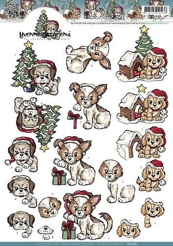 Yvonne Creations Christmas Puppies CD10561 (Locatie: 1108)