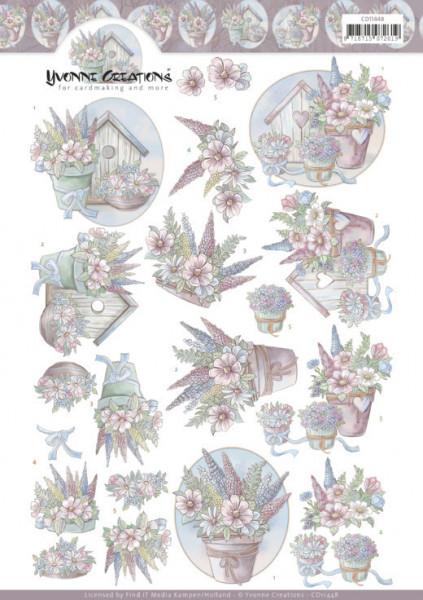 Yvonne Creations knipvel bloemen CD11448 (Locatie: 2302)
