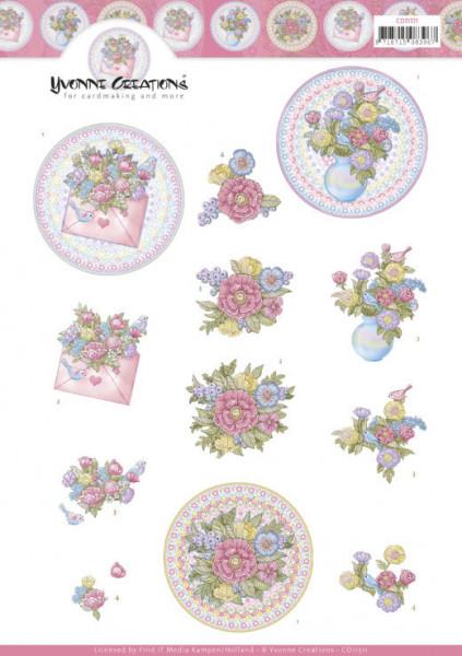 Yvonne Creations knipvel bloemen CD11511 (Locatie: 2301)