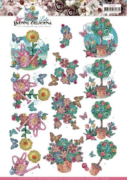 Yvonne Creations knipvel kitschy garden CD11438 (Locatie: 0333)