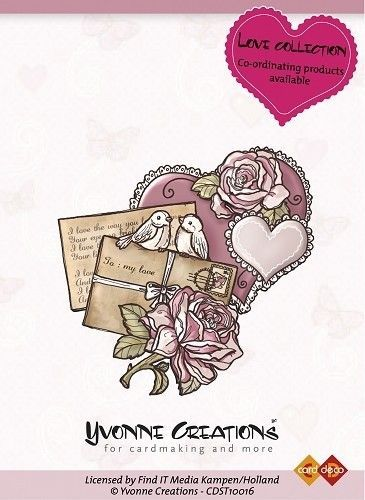 Yvonne Creations Love collection Heart CDST10016 (Locatie: NN267 )