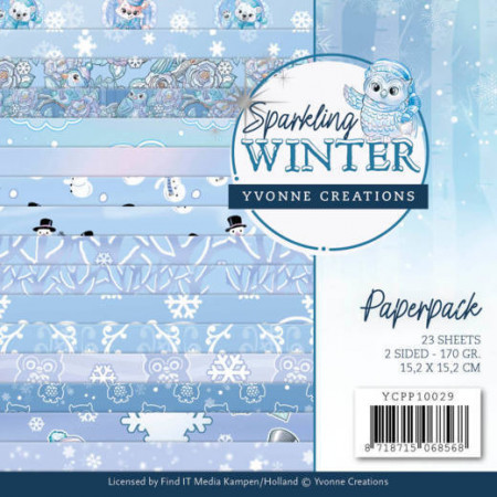 Yvonne Creations, Paperpack, 15.2 x 15.x cm, Sparkling Winter, YCPP10029