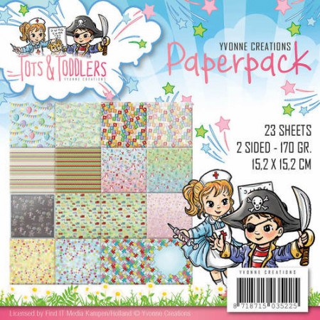 Yvonne Creations, Paperpack, 15.2 x 15.x cm, Tots & Toddlers, YCPP10012