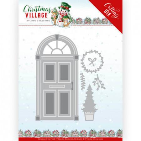 Yvonne Creations snijmal Christmas Door YCD10210 (Locatie: k92)