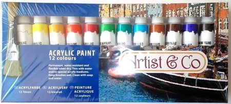 Acrylverf 12 kleuren 70793 (Locatie: 3RA )