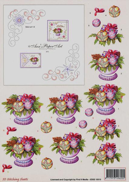 Ann's Paper Art knipvel met borduurpatroon 3DSS 10013 (Locatie: 4315)
