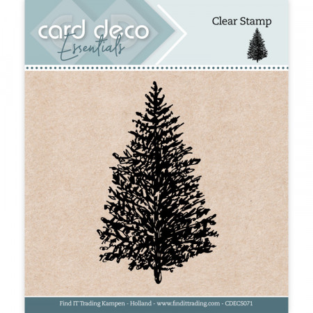 Card Deco Clear Stamp Christmas Tree CDECS071 (Locatie: NN232)