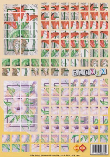 Card Deco knipvel bloxxx bloemen BLX 10003 (Locatie: 2767)