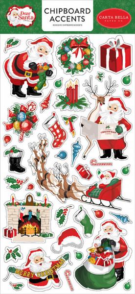 Carta Bella Chipboard Dear Santa 15 x 30 cm CBDE125021 (Locatie: 2939)