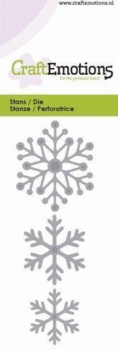 CraftEmotions snij- en embosmal Sneeuwkristallen 115633/0131 (Locatie: K182)