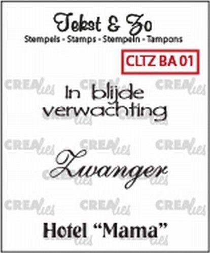 Crealies Clearstamp Baby 01 CLTZBA01 130505/1501 (Locatie: NN003)